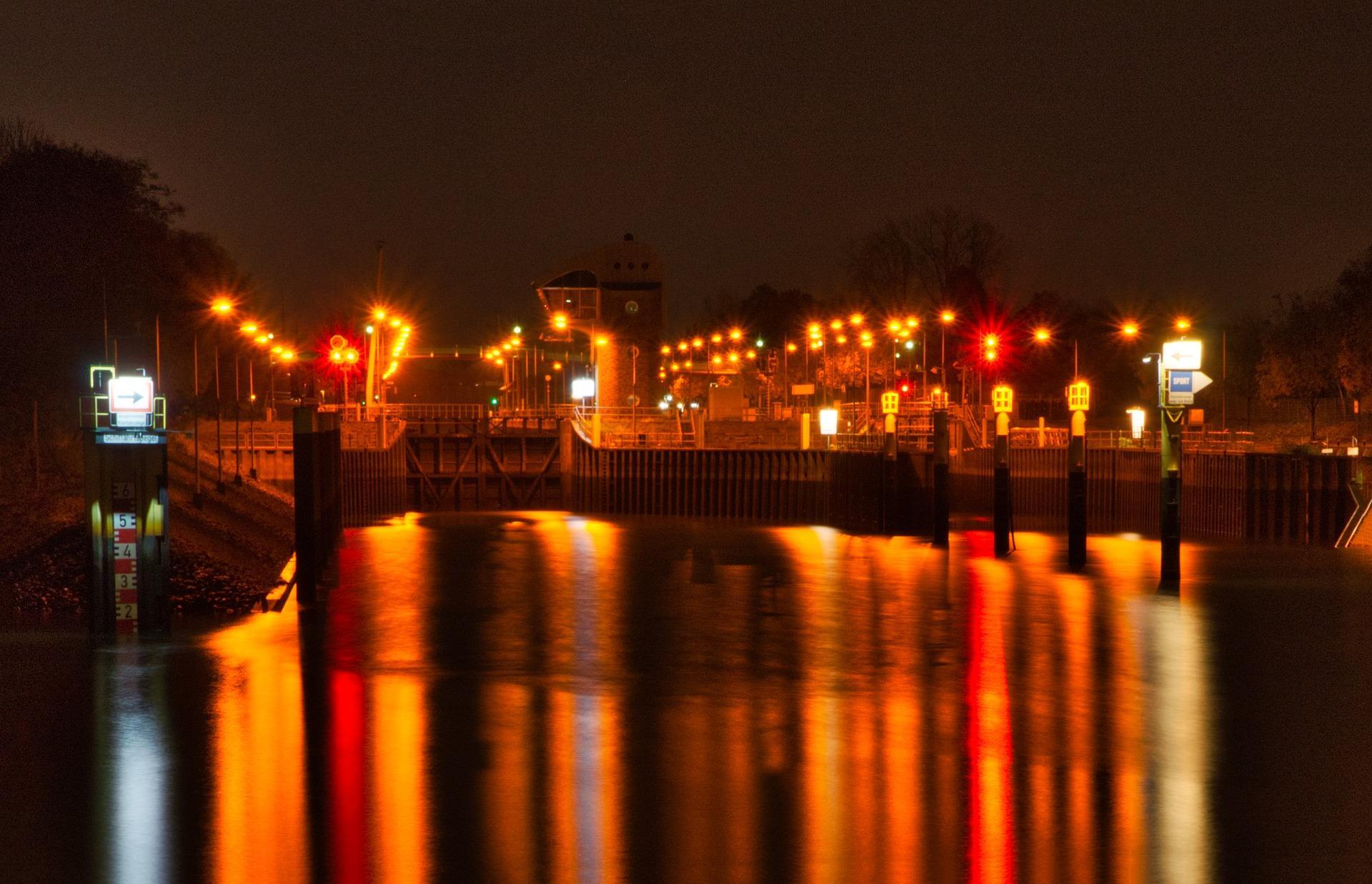 Bild von Bremen bei Nacht