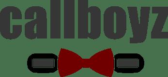 Bild von dem offiziellen Callboyz.de Logo in schwarz mit roter Fliege