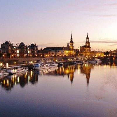 Picture of Dresden at dusk