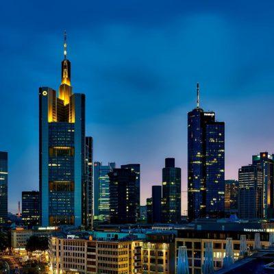 Picture of Frankfurt skyline at beautiful sunset