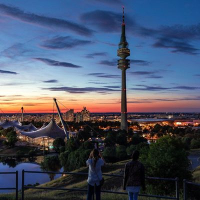 Picture of Munich at sunset