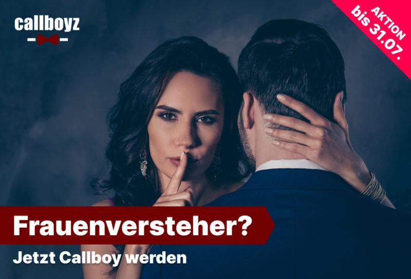 Callboy werden Casting, Frau mit einem Mann der als Callboy arbeitet
