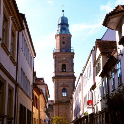 View through alleys in Erlangen