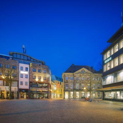 Old town of Osnabrück at night