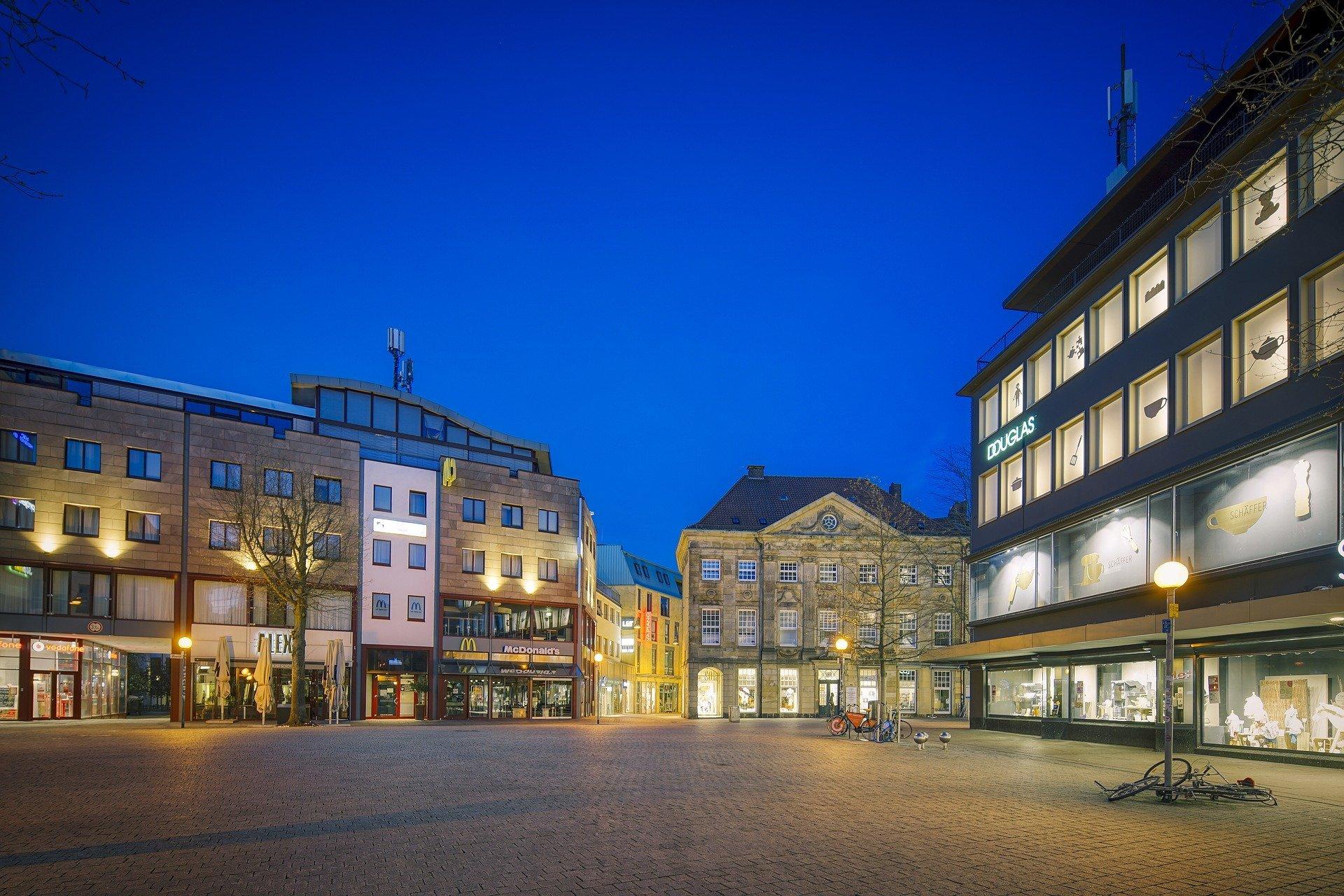 Altstadt von Osnabrück bei Nacht
