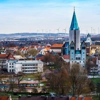 Aerial view of Paderborn