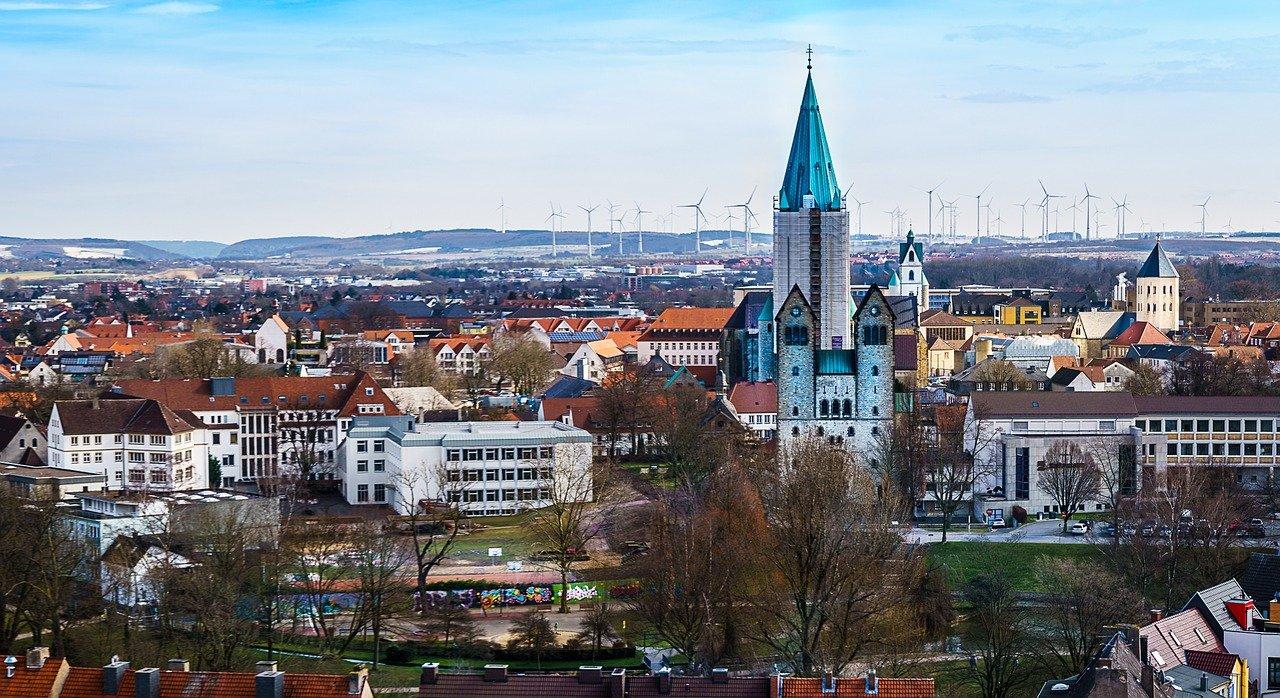 Luftaufnahme von Paderborn
