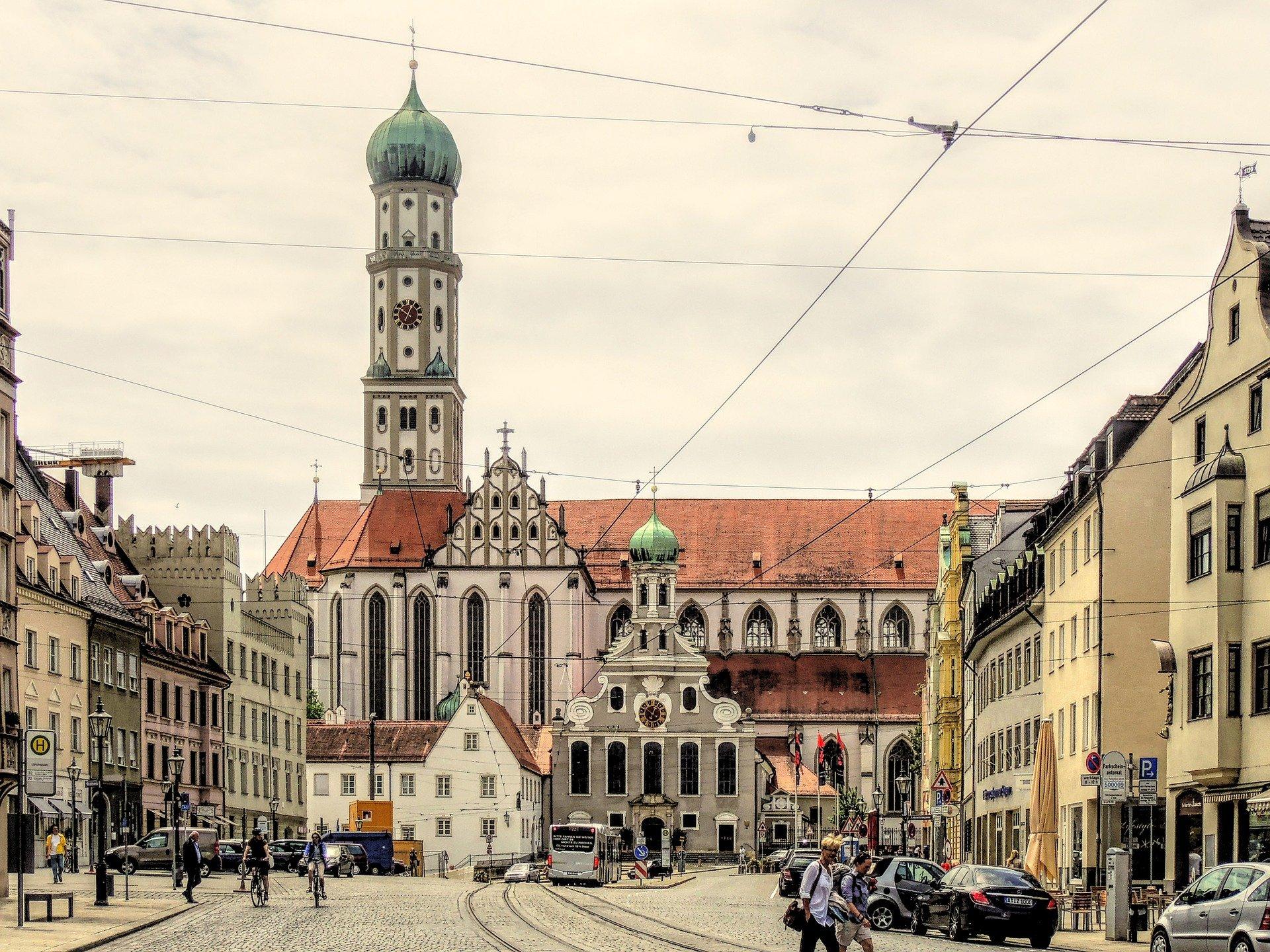 Blick in die Altstadt von Augsburg