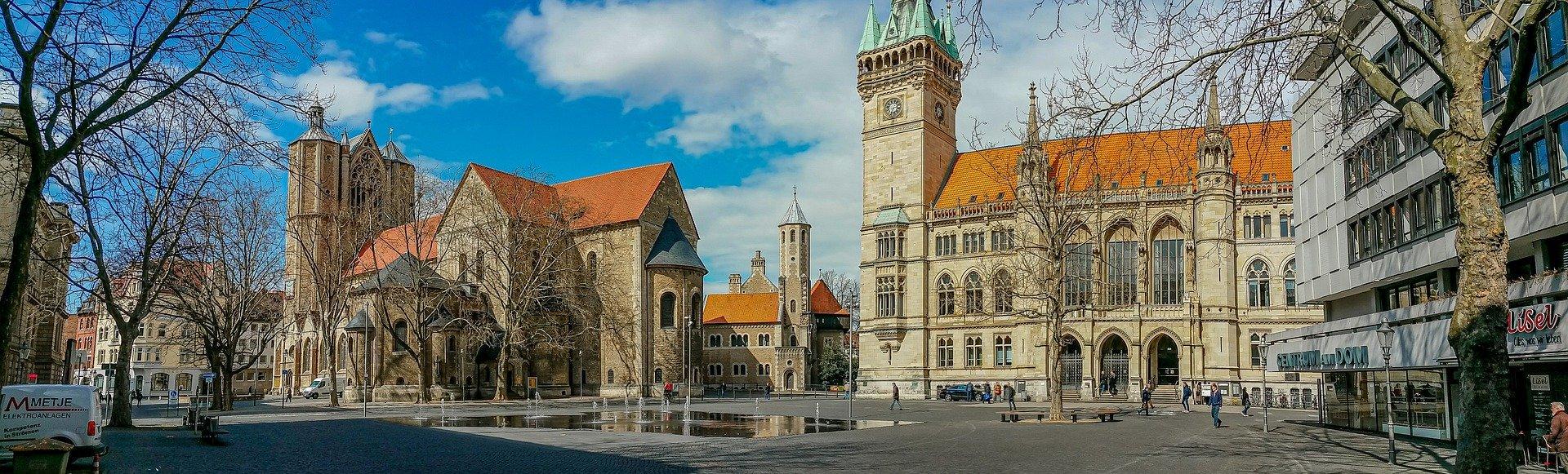 Blick in Altstadt von Braunschweig