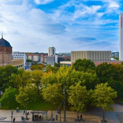 Blick auf Chemnitz bei Tag