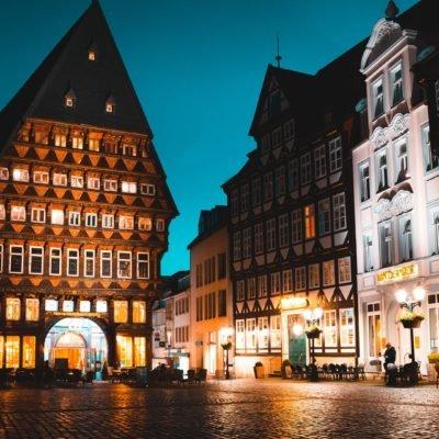 Hildesheim Market Square at Night