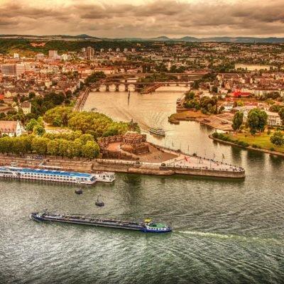 View of the German corner in Koblenz