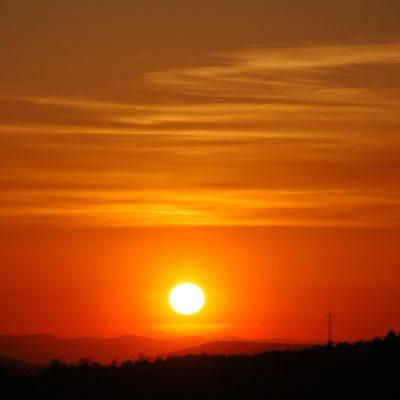 Sunset over Pforzheim in the Black Forest