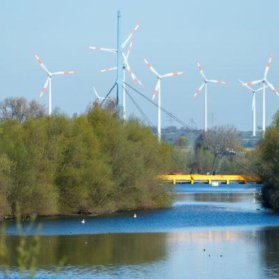 Natur und Windräder in Salzgitter