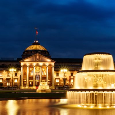 Picture of the spa park in Wiesbaden