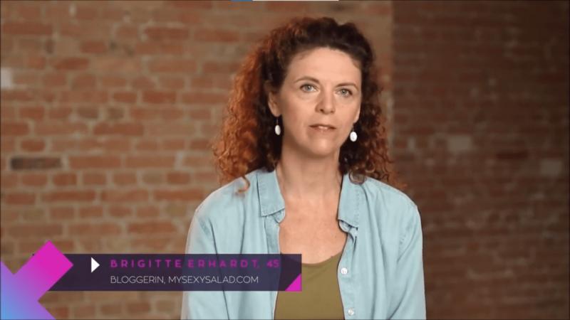 Brigitte Erhardt als Bloggerin beim Callboy Interview von Paula kommt